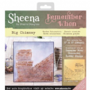 "Sheena Douglass - Remember When - 8"" x 8"" Stencil - Big Chimney"